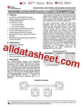datasheet transistor mdl 3088 sn65hvd3088ed datasheet pdf instruments