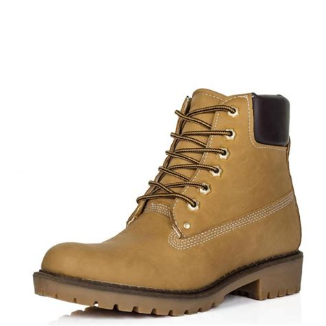 buy outlandish flat lace up worker ankle boots leather