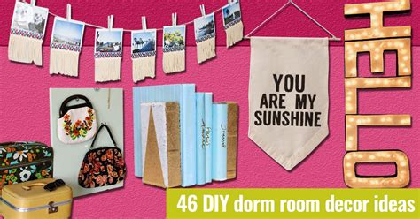 diy projects for college 46 best diy room decor ideas