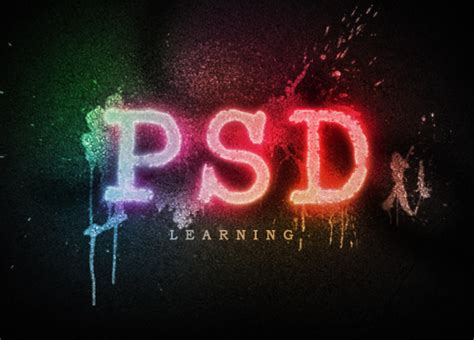 spray paint fonts for photoshop spray paint text psdlearning