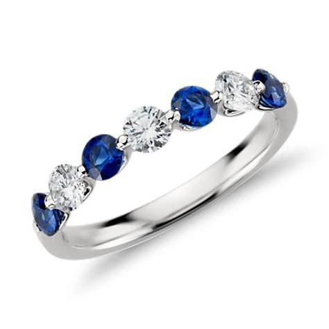 sapphire and garland ring in platinum 7 8 ct tw