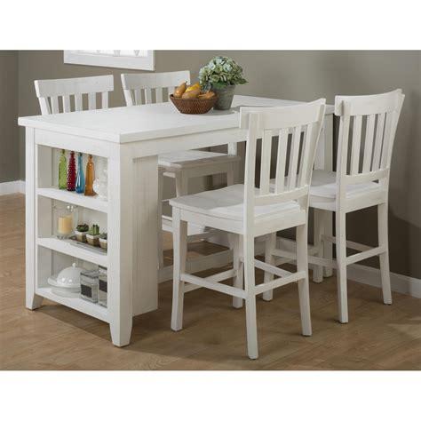 white counter height table set madaket counter height table 3 shelves storage white