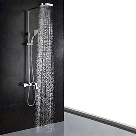 Shower Faucet With Handheld Chrome Finish Contemporary Shower Faucet Handheld