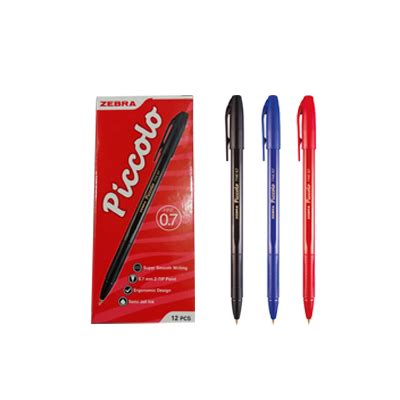 Zebra Piccolo Pulpen 0 7 Mm zebra piccolo semi gel pen 0 7mm staplesindo