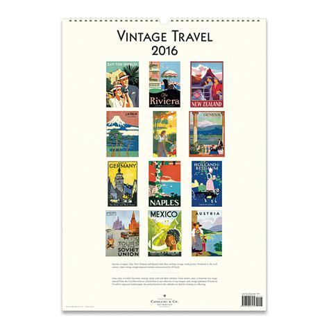 Cavallini Calendars Cavallini Papers 2016 Wall Calendar Vintage Travel 13 X