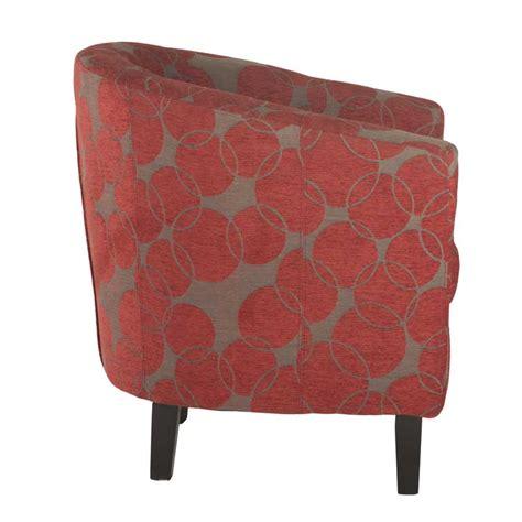 circle armchair zara tub armchair red circle print decofurn factory shop