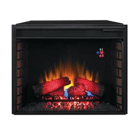29 in electric fireplace insert and builders box kit