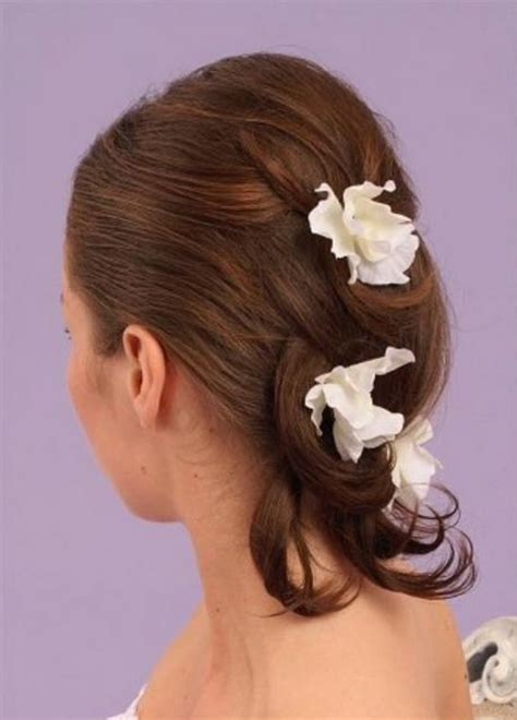 haircuts in 1988 medium hair bride hairstyle with white flowers jpg hi res