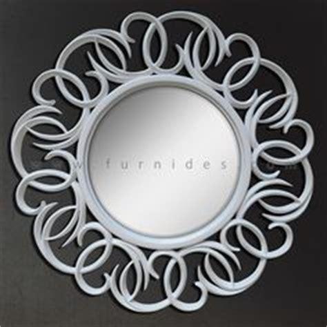 Cermin Brown Mirror cermin hias minimalis putih furnides mirror frame