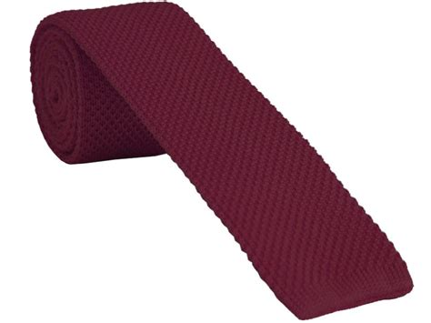 burnt orange knitted tie with free and fast uk delivery