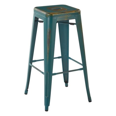 turquoise bar stool covers 30 quot bar stool in antique turquoise set of 4 brw3030a4 atq