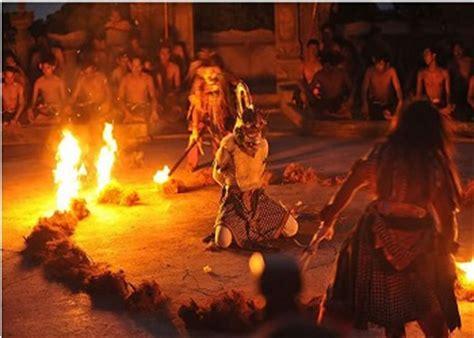 bali kecak  fire dance traditional balinese dance
