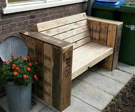 patio bench diy diy pallet patio bench ideas 99 pallets