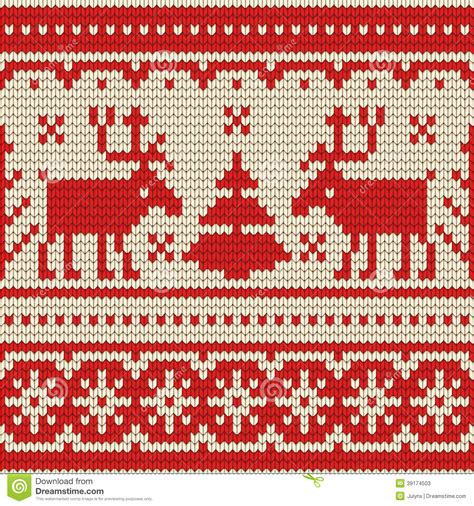 christmas jumper pattern vector free sweater with deer seamless pattern stock vector