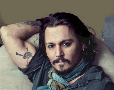 johnny depp s jack sparrow tattoo real tattoo disasters favorite celebrity tattoo design