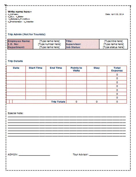 truck drivers trip sheet template trip sheet template free sheet templates
