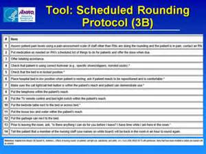 Hospital hourly rounding tools success