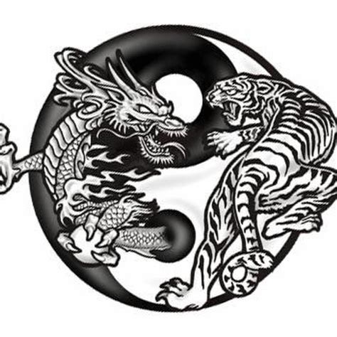 yin and yang tattoo designs black and tiger in yin yang design