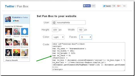 Membuat Twitter Di Website | cara membuat twitter fan follower box di blogger shinta
