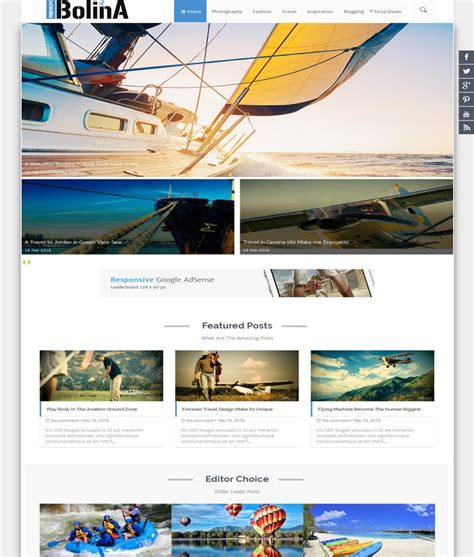 wordpress templates for blogger free download bolina responsive blogger template 2017 themespk