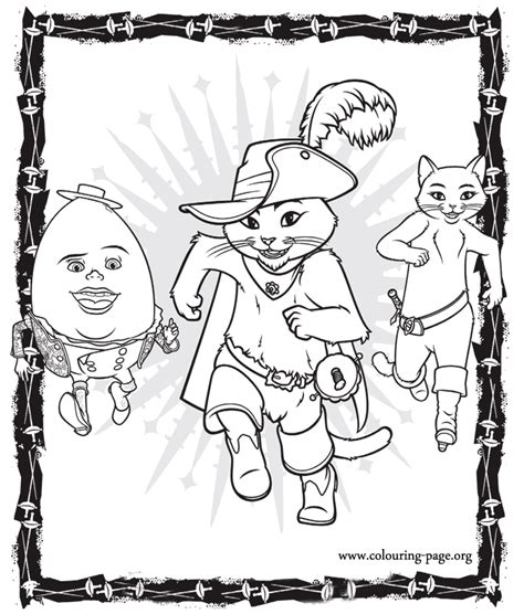 kitty softpaws coloring pages puss in boots puss in boots humpty dumpty and kitty
