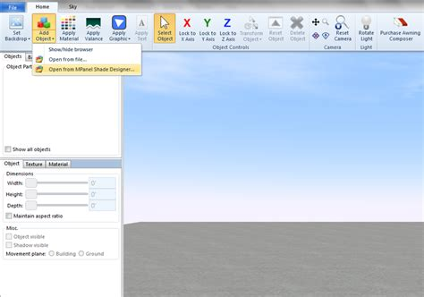 awning design software using mpsd with awning composer