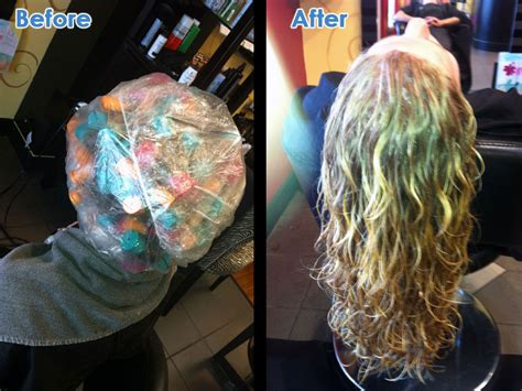 do hairdressers still perm hair before after perm tangled up salon