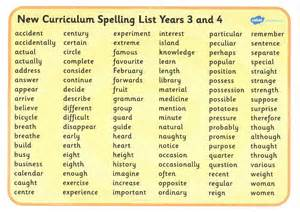 spelling and lists the 5eb