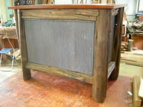 rustic kitchen islands for sale western cabinets diy the posts and rails were wire