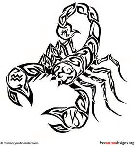 Scorpion Tribal Outline by 28 Tribal Scorpion Tattoos
