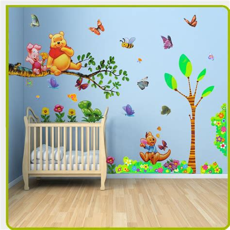 wall stickers for baby room baby room painting ideas winnie pooh them winnie the pooh wall stickers animal tree for boys
