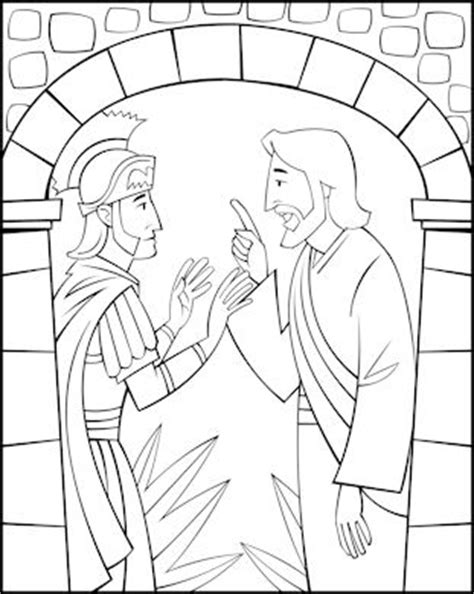 coloring page jesus heals centurion s servant free sunday school coloring pages jesus and the centurion