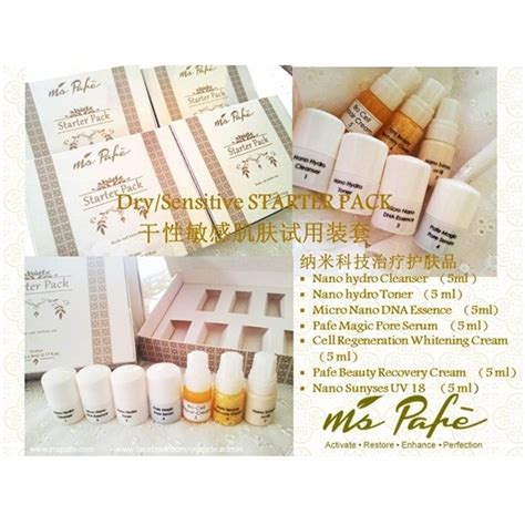 Ms Groosia Skin Care ms pafe nano tech skin care set sensitive starter pack 7 items x 5 ml