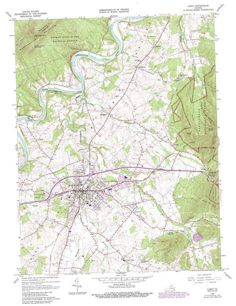 virginia topographic map luray topographic map va usgs topo 38078f4