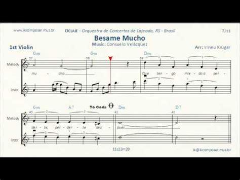 besame mucho 1st violin