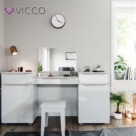 schlafzimmer vanity kommode frisiertisch schminktisch hochglanz wei 223 kosmetik real