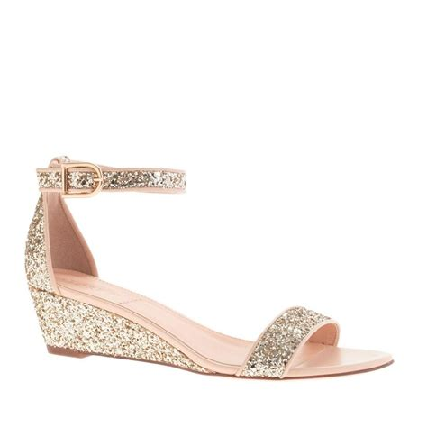 sparkle small wedge sandals adorable shoes
