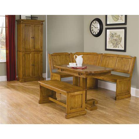 home styles corner nook  rectangular table  bench