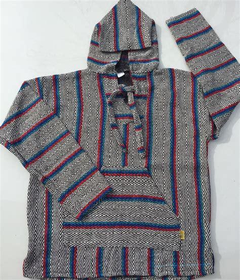 rug hoodies hippies baja hoodie rug shop