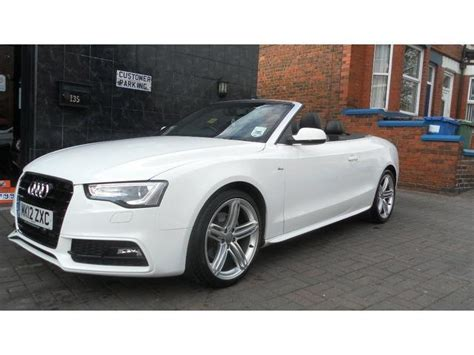 audi a5 convertible white used audi a5 2012 model 2 0 tdi 177 s diesel convertible