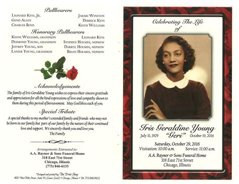 iris geraldine obituary aa rayner and sons funeral