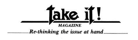 take it magazazine back issues one of america s