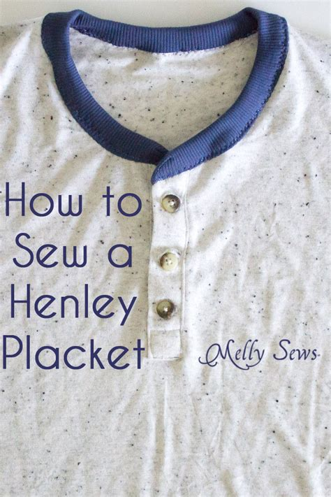 learning to sew a shirt placket cut it out stitch it up how to sew henley placket melly sews
