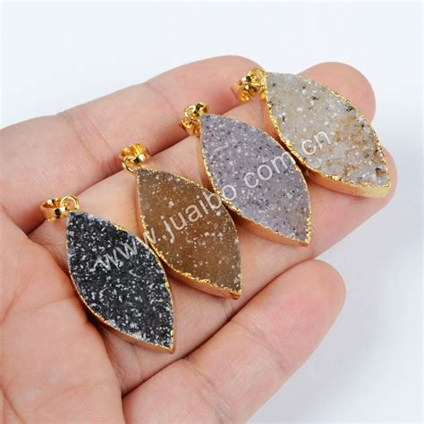 how to make druzy jewelry new arrival gold plated marquise agate druzy geode