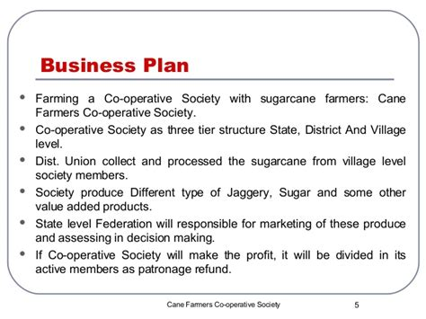 business plan format for agriculture co operative business plan group 1