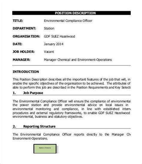bank compliance officer description 9 compliance officer description in pdf free