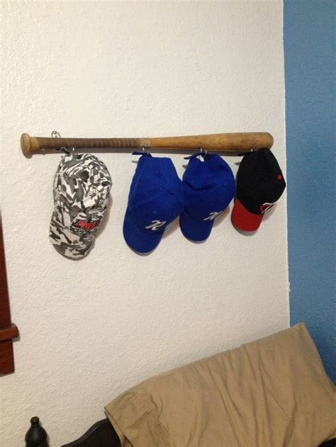 Baseball Bat Hat Rack by Baseball Bat Hat Rack For Trent S Room Came Out Pretty