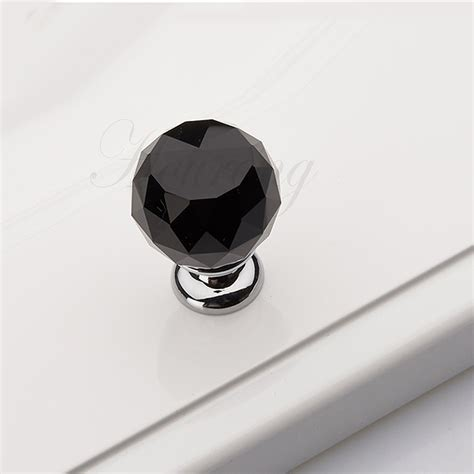glass kitchen cabinet knobs and pulls 5 pcs 30mm black glass crystal kitchen cabinet knobs and