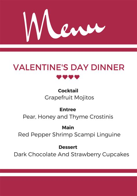 easy feasts a valentine s day menu pretty mayhem