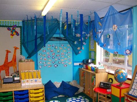 themes for book corners under the sea reading corner classroom display photo
